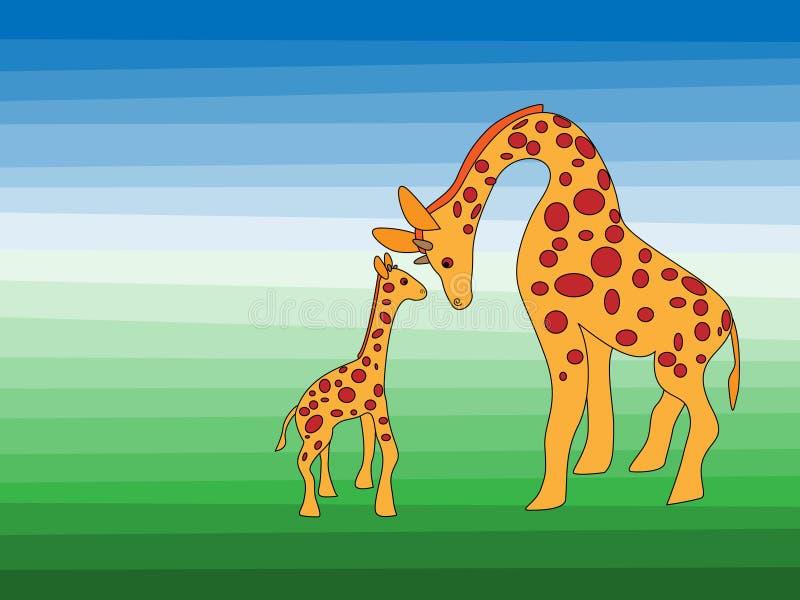 giraffes illustration stock