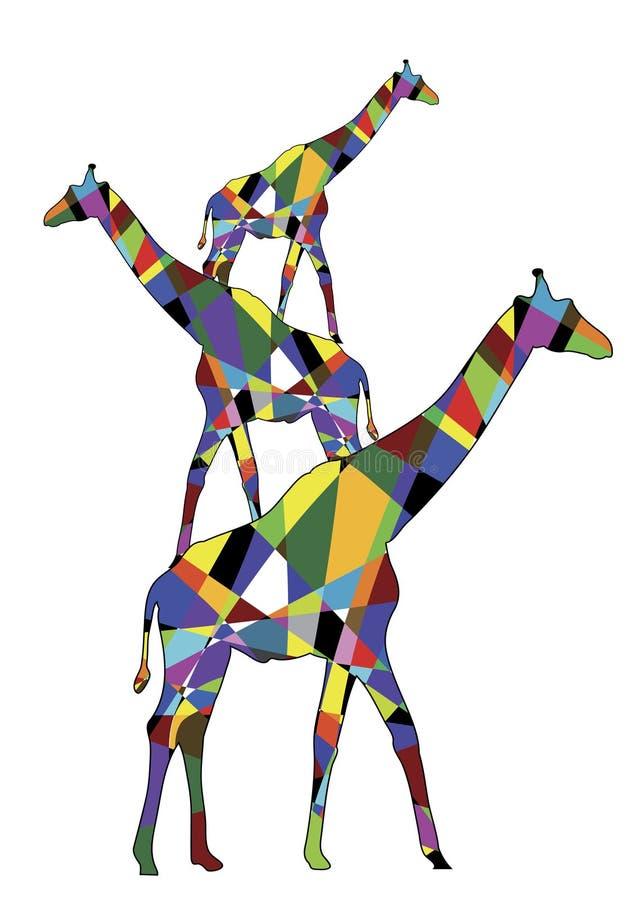 giraffes διανυσματική απεικόνιση