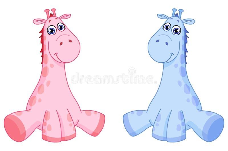 Giraffes do bebê ilustração royalty free