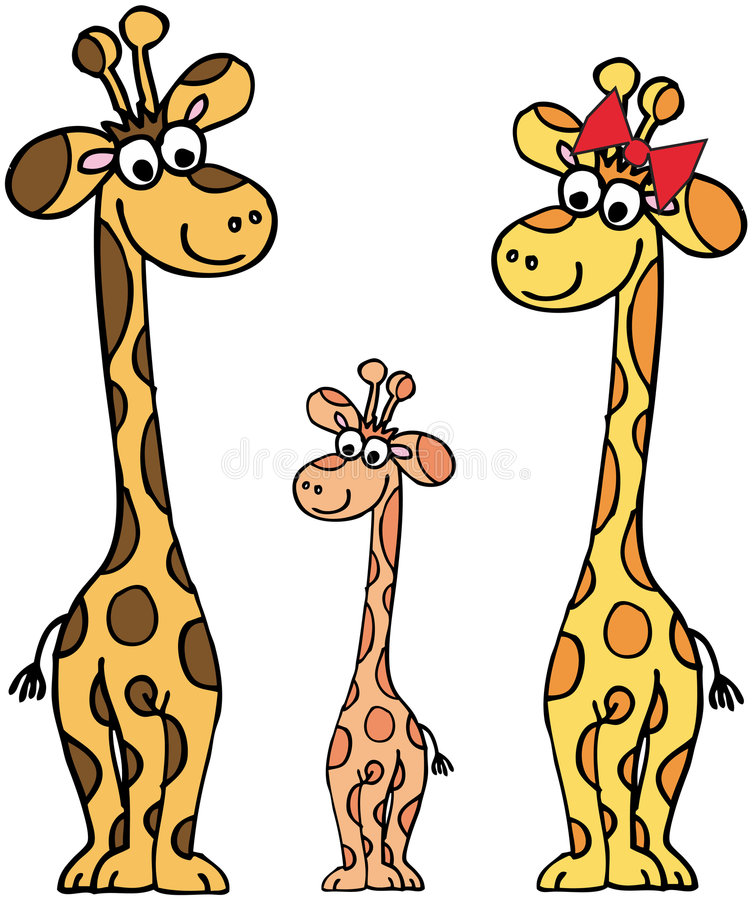 Download Giraffes Family Royalty Free Stock Photography - Image: 7608287