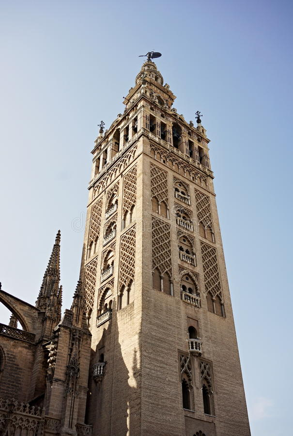 Download Giralda Famous Bell Tower Of The Seville Cathedral In Spanish City Sevilla