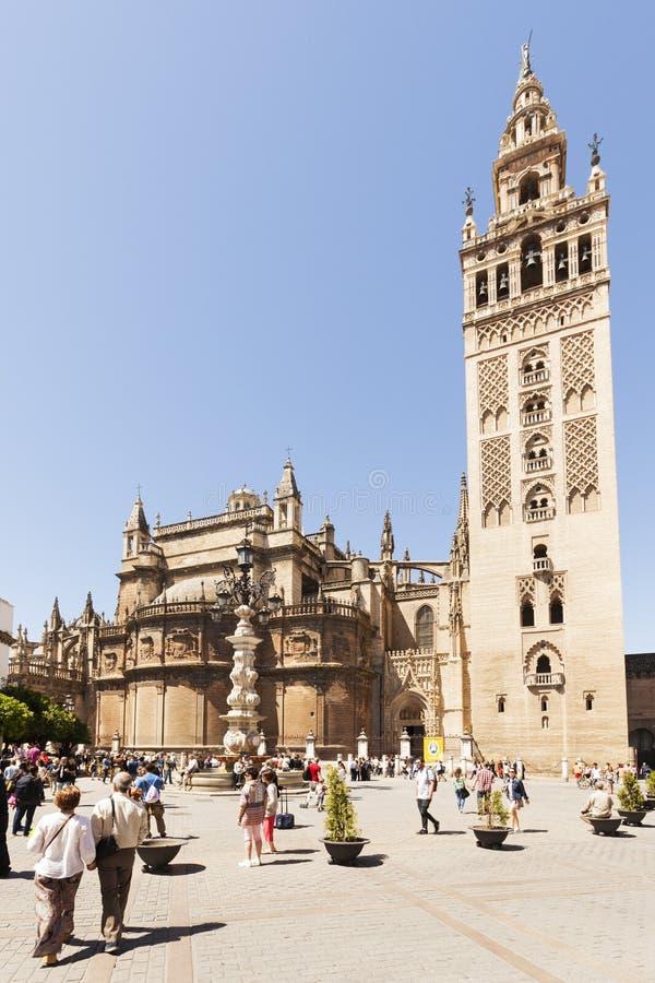 Giralda in Sevilla, Spanje stock fotografie