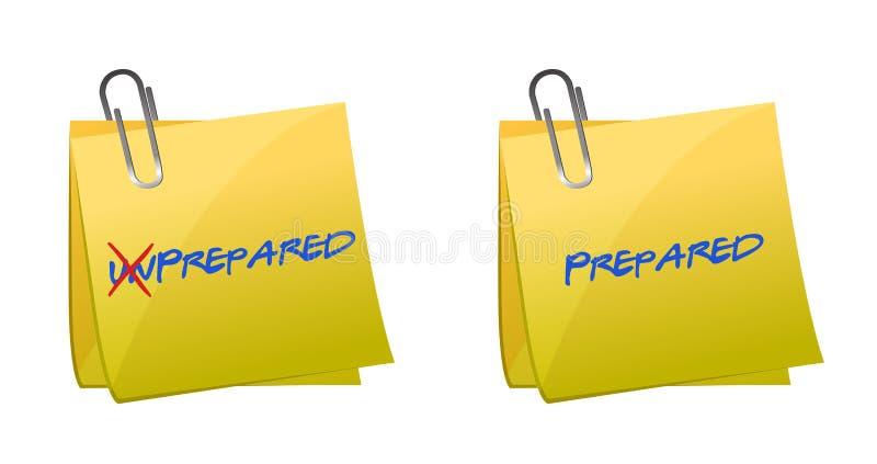 Girando la parola non preparata nel pronto in illustrazione vettoriale