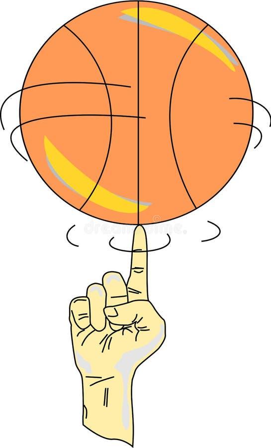 Girando um basquetebol ilustração royalty free
