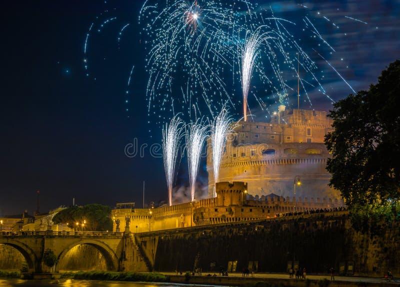 Girandola w Rzym obrazy royalty free