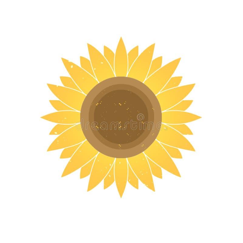 Girasol amarillo de la pendiente del diseño gráfico foto de archivo libre de regalías