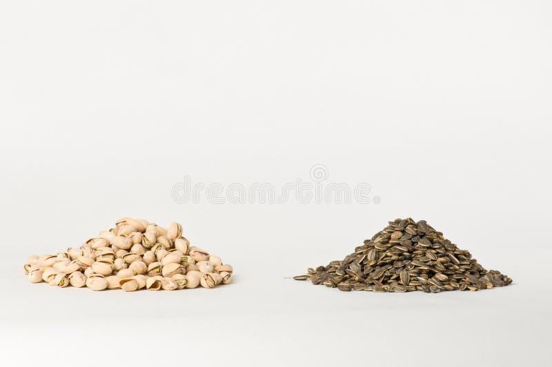 Girasol y pistachos imagen de archivo
