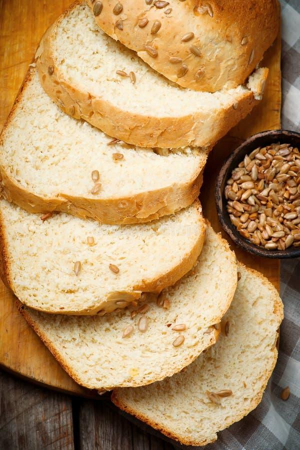 Girasole Honey Oatmeal Bread del grano intero Stile rustico immagini stock