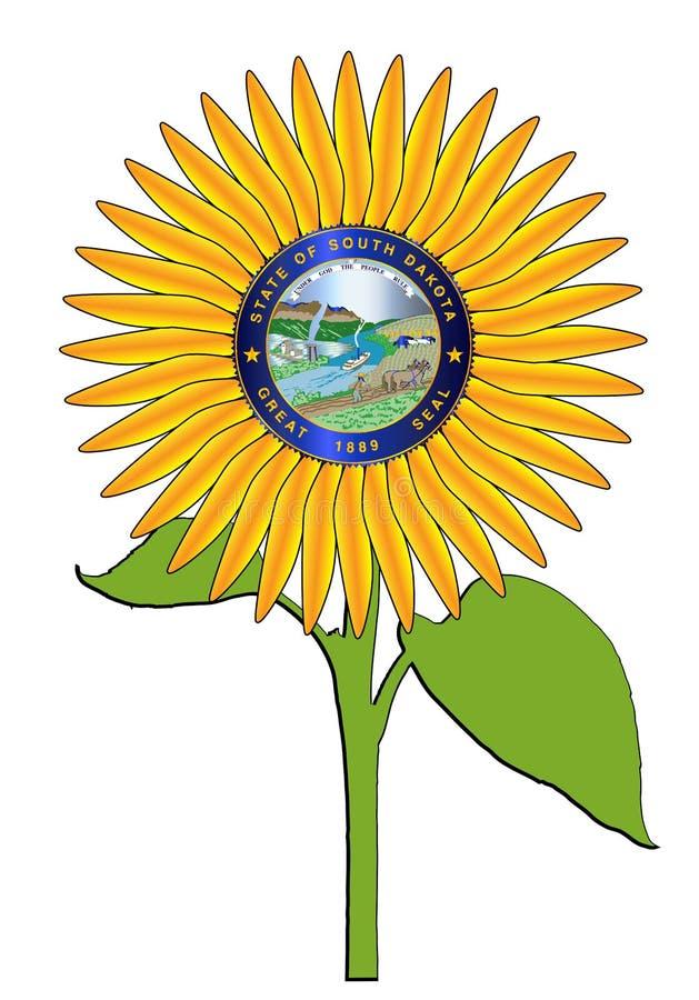 Girasole nello Stato del South Dakota illustrazione di stock