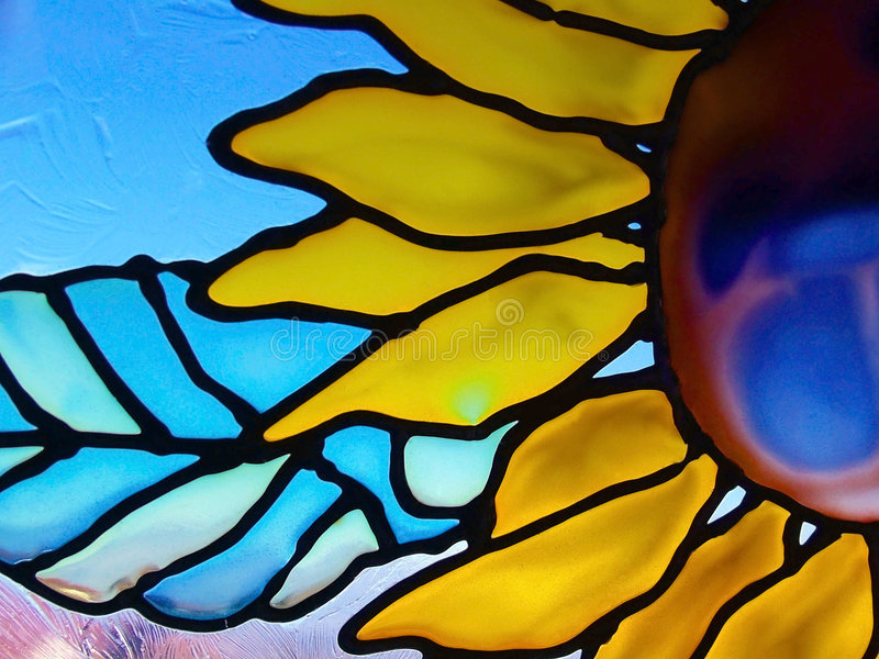 Girassol de vidro imagens de stock