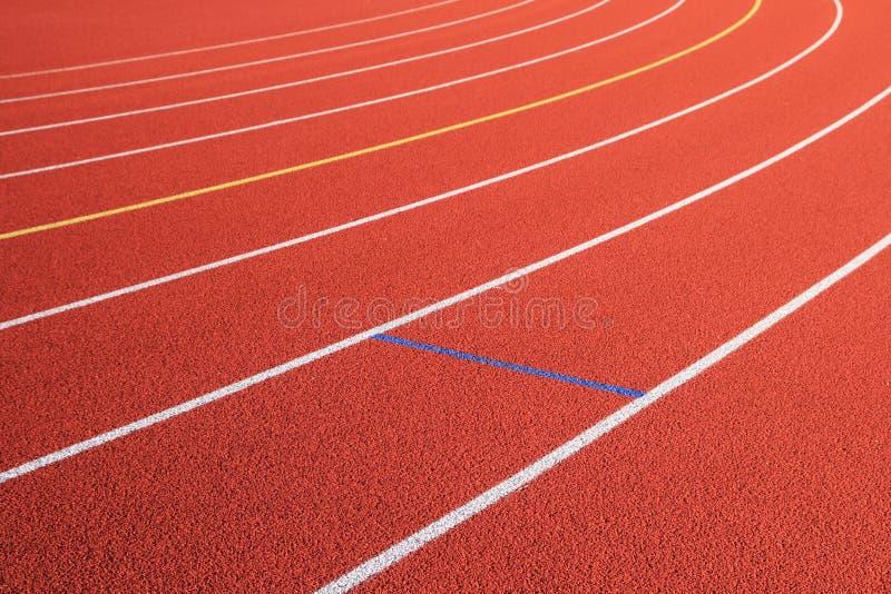 Girata rossa dei vicoli della pista fotografia stock