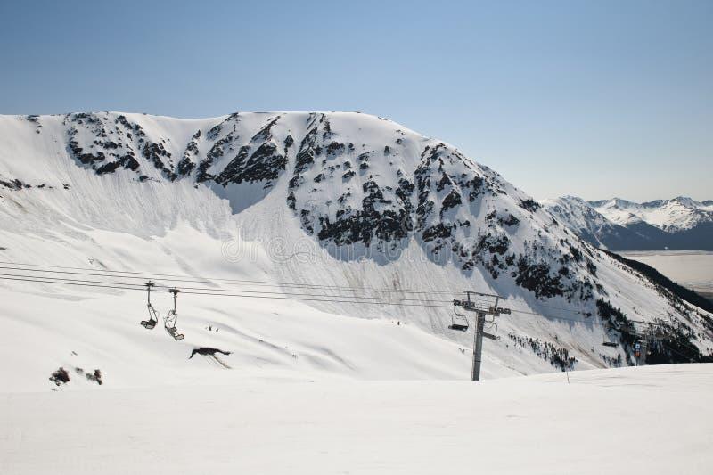 Girdwood Skiort lizenzfreies stockfoto