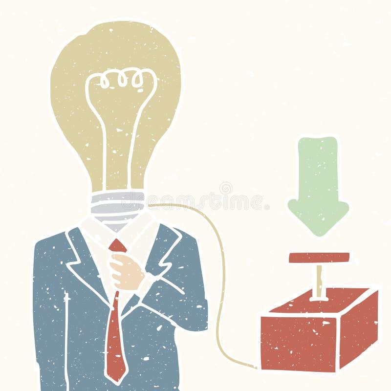 Gire la idea stock de ilustración