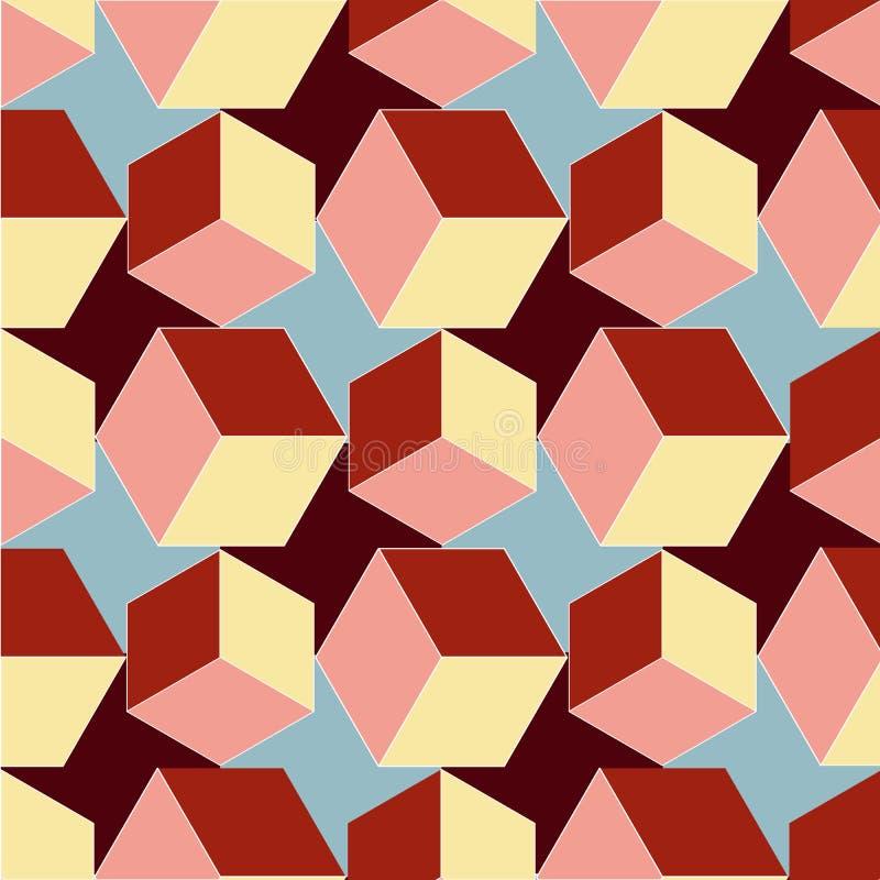 gire los cubos ilustración del vector