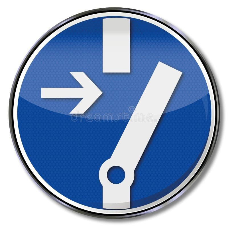 Gire o interruptor antes de trabalhar ilustração royalty free