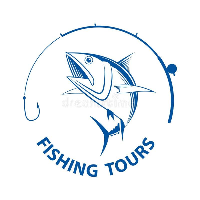 Giri di pesca di vettore, illustrazione di stock