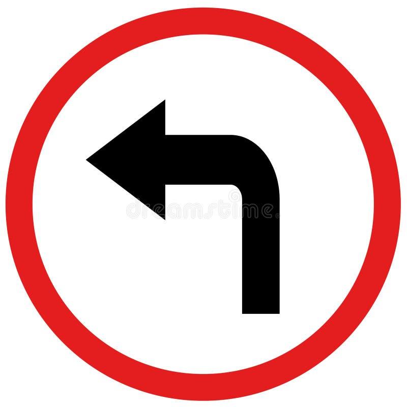 Giri il segno sinistro illustrazione vettoriale