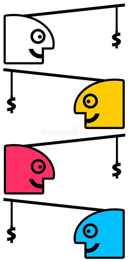 Girighet stock illustrationer