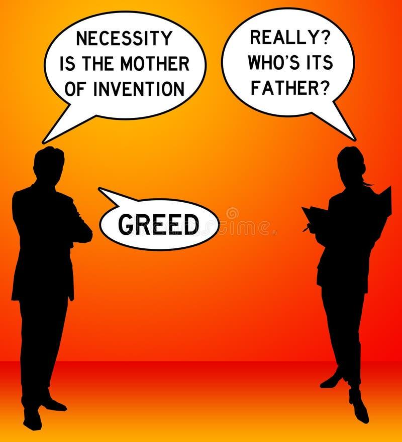 girighet vektor illustrationer