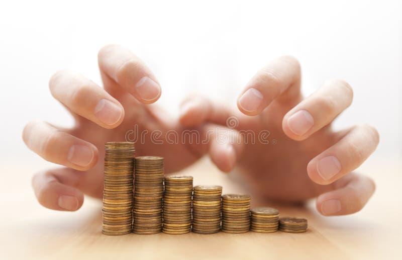 Girighet för pengar royaltyfria bilder