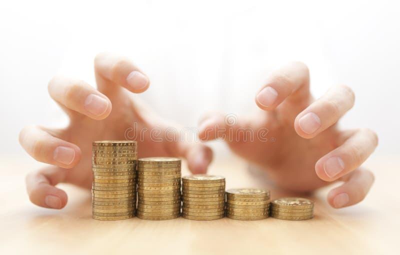 Girighet för pengar royaltyfri bild