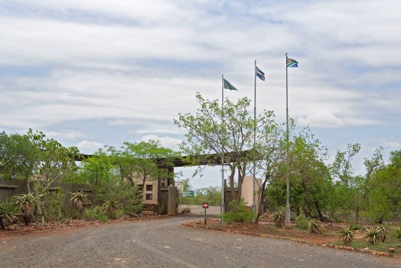 Giriyondo portpassage från Sydafrika till Mocambique royaltyfria bilder