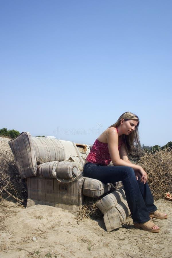 Download Girl stock image. Image of seat, torn, resting, girl, teens - 7701