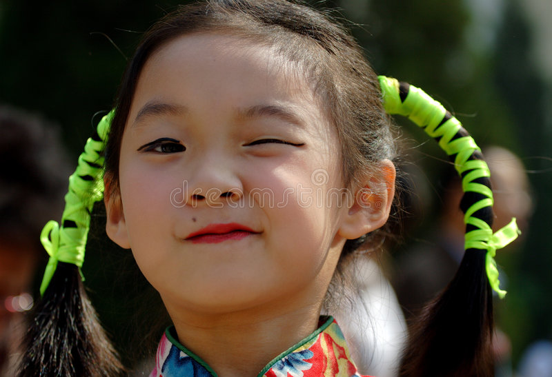 Download Chinese naughty girl stock photo. Image of little, lovely - 1228234