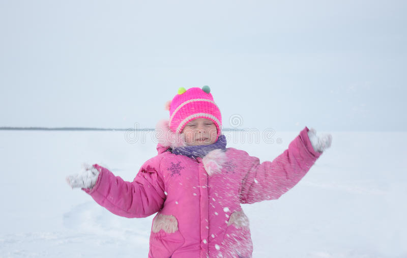 Download Girl stock image. Image of child, beautiful, snow, play - 12988319