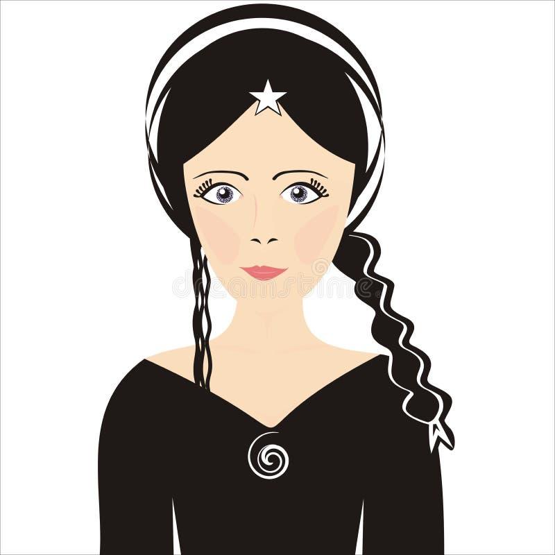 Download Girl stock vector. Illustration of hair, cartoon, headband - 21318457