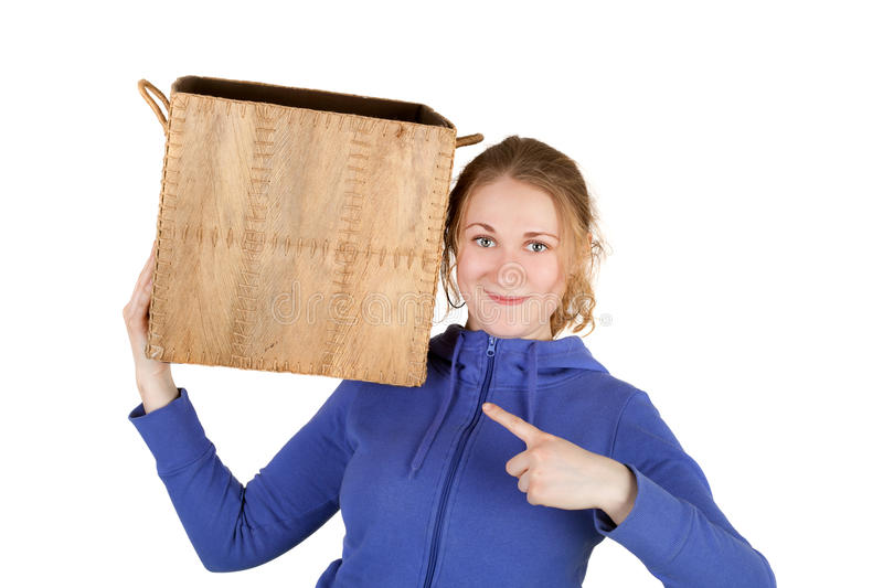 Download Girl stock image. Image of courier, pack, background - 23875585