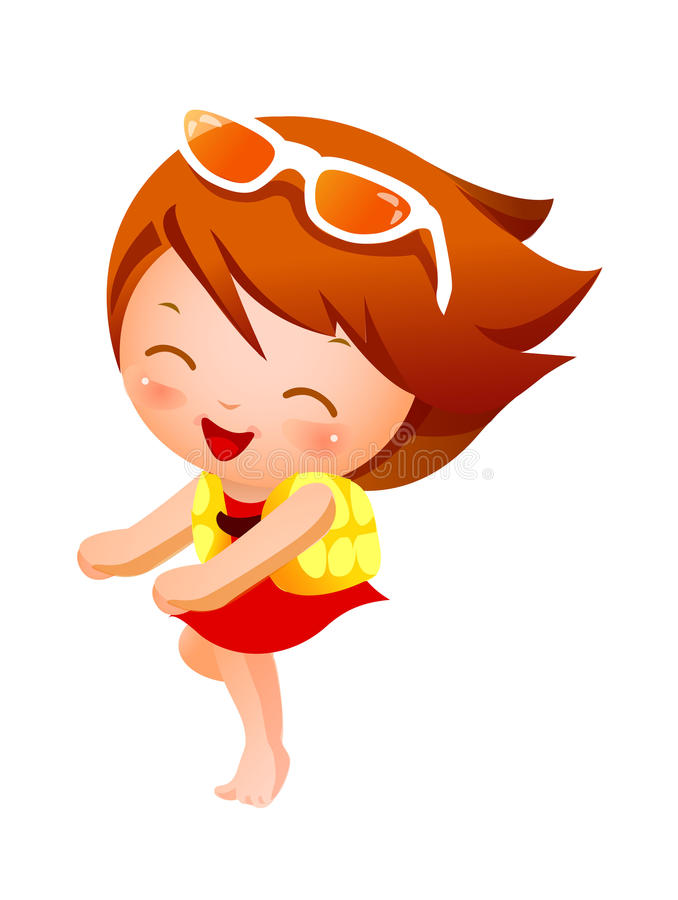 Download The girl stock vector. Image of happy, excited, drawing - 27009164