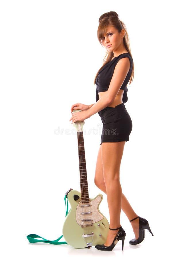 Download Girl stock photo. Image of short, guitar, make, instrument - 3817122