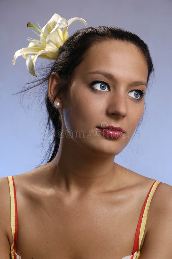 The girl stock photos