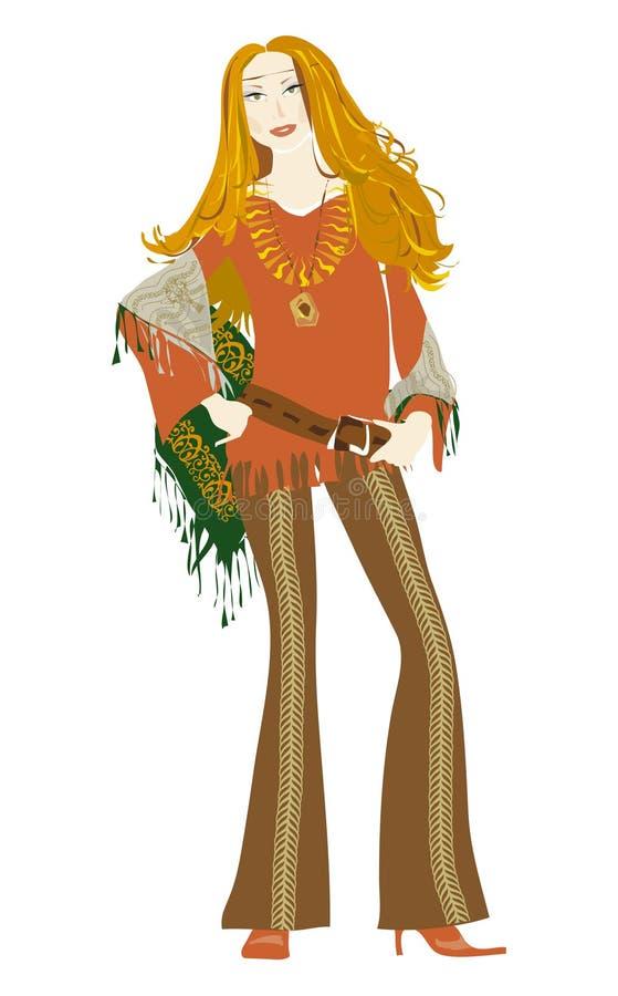 Girl'70 illustration de vecteur