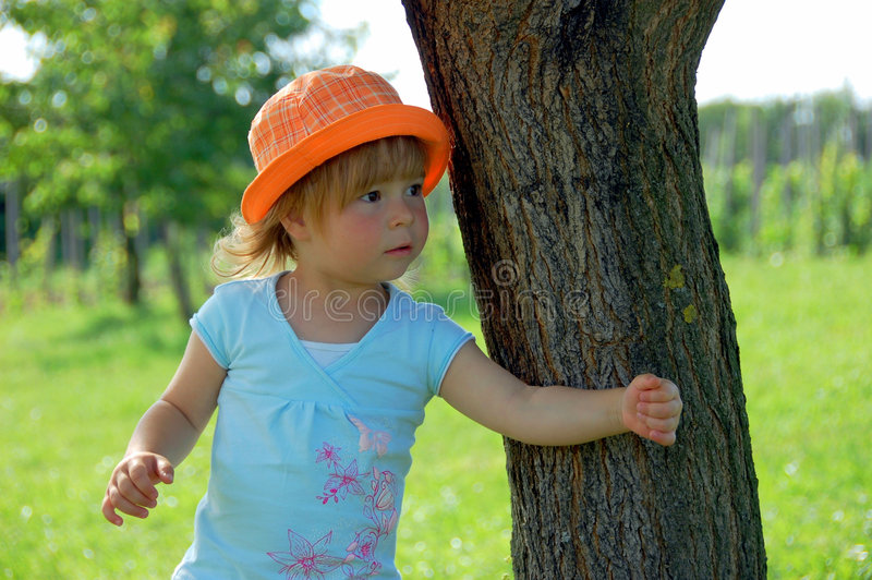 Download Girl stock photo. Image of cheerful, human, blond, nature - 7421080