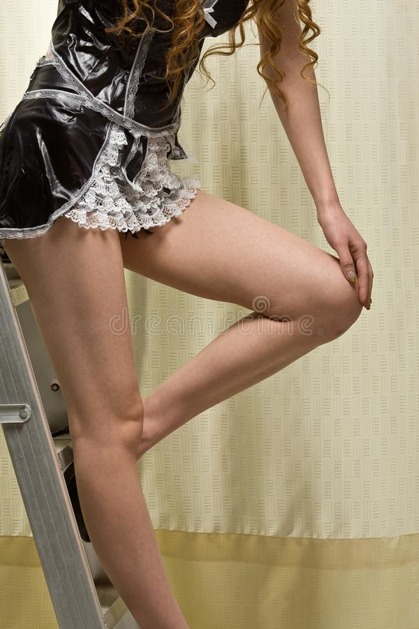 Download Girl stock photo. Image of single, underclothes, elbow - 8601698