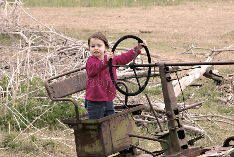 Download Girl stock photo. Image of driving, cute, childhood, drive - 9934422