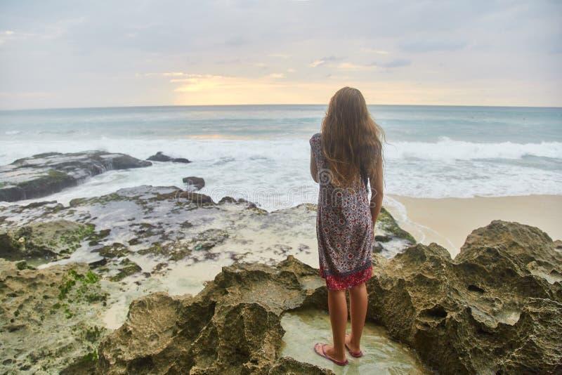 Sunset on the tropical beach. Dreamland beach. royalty free stock photo
