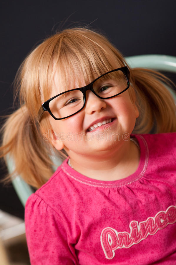Download Girl in adult glasses stock photo. Image of happy, girl - 25255132