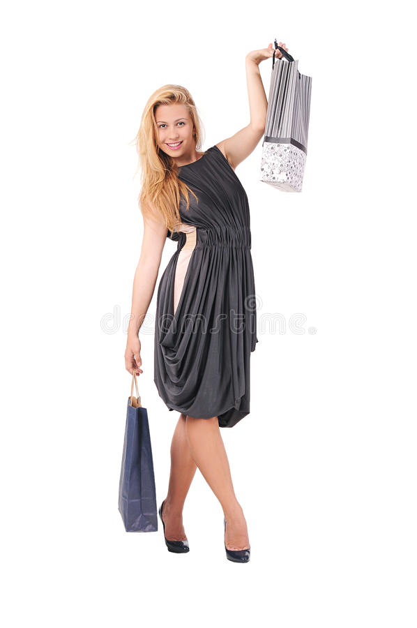 Download Girl Advertises Clothing Stores Stock Photo - Image of shopping, bags: 31557592