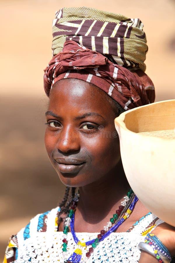 Girl in Africa stock image