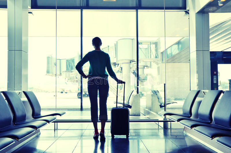 Download Girl in the airport stock photo. Image of meeting, adventure - 39514540