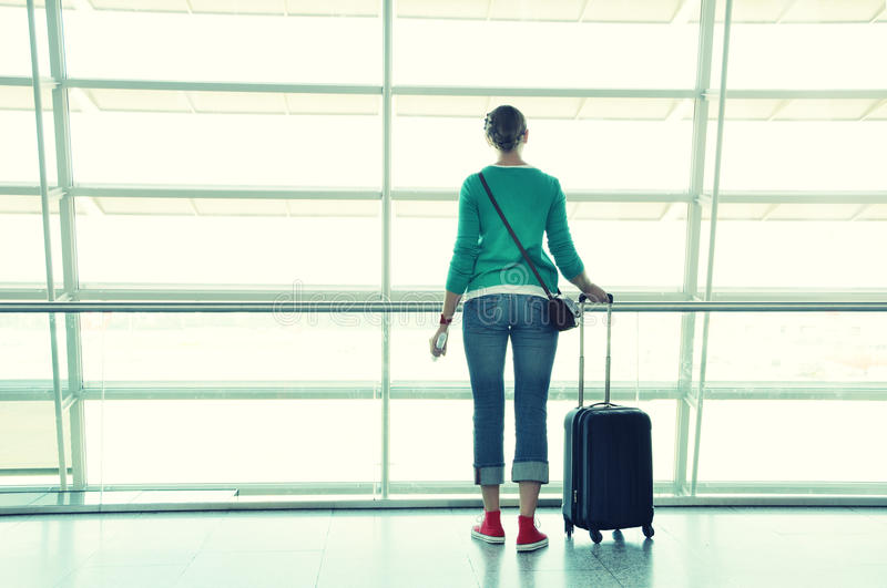 Download Girl in the airport stock photo. Image of adventure, boarding - 39514868