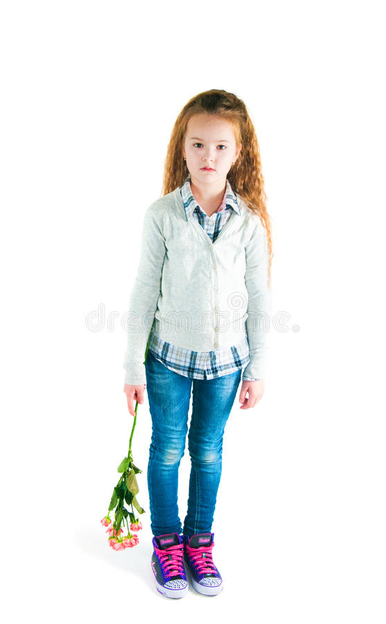 Download The Girl  With An Alstromeriya Stock Photography - Image: 31137652