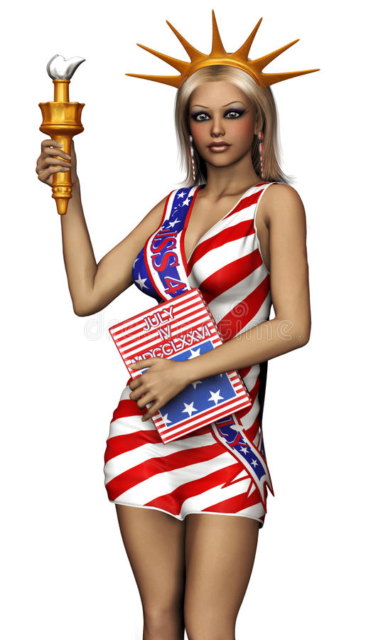 Download Girl In American Flag Outfit Stock Image - Image: 26394801