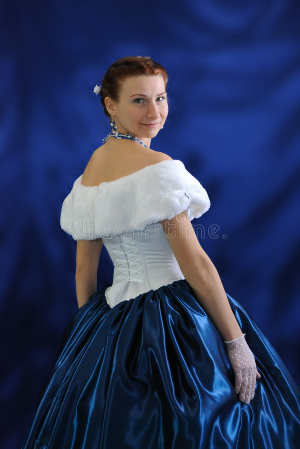 Girl In An Ancient Dress Royalty Free Stock Photos