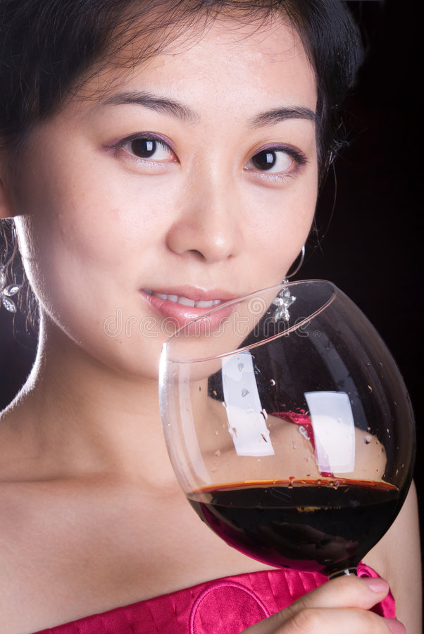 Free Girl And Red Wine Royalty Free Stock Photos - 7025638
