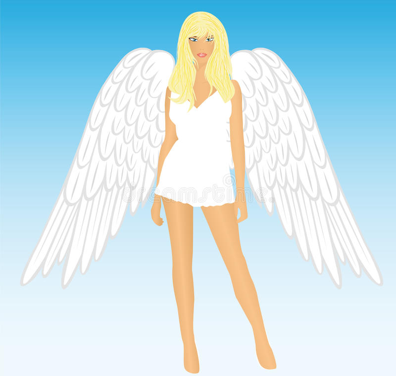 Download The girl an angel stock illustration. Illustration of girl - 19378721