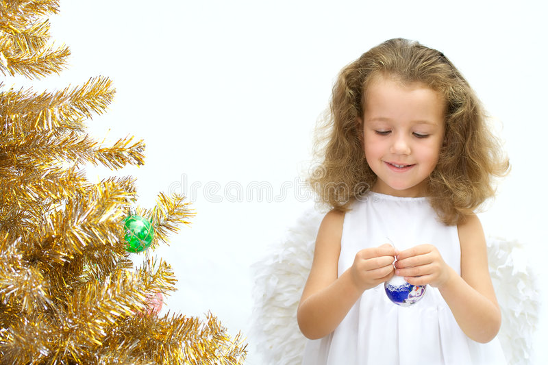 Download The girl - angel stock photo. Image of cheerful, holiday - 3027320